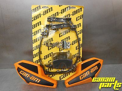 Can-Am Orange Wind Deflector Hand Guard Kit w/ Mounting Kit Complete Wrap Around