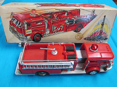1970 Hess Fire Truck With Box Inserts and Battery Card