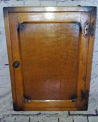 Antique Vintage Rare Charming Small Wooden Collectors Cabinet