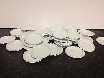 Pack of 100 Flat White Bottle Caps Craft and 100 Epoxy Clear Resin Domes/Dots #7