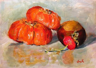 """Oil Painting, """"Autumnal Fruits"""" Original impressionist still life picture."""