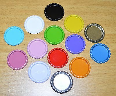 Pack of 100 Flat Mixed Bottle Caps Craft and 100 Epoxy Clear Resin Domes #7