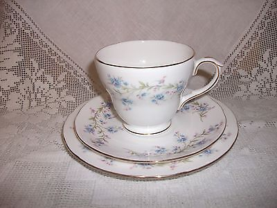Duchess China Tranquility Vintage Floral Gilt Edged Cup Saucer & Tea Plate Trio