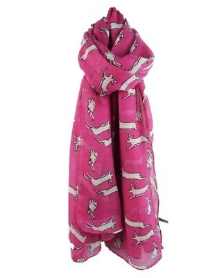 NEW Large Leaping Hares Hare Rabbit Pink Purple Green Grey Blue  Oversized Scarf