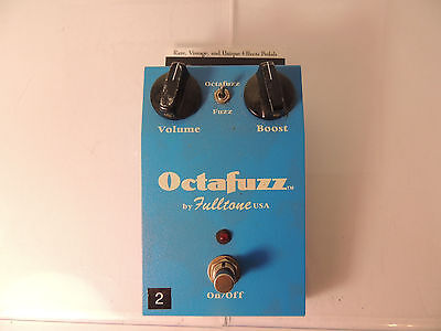 Fulltone Octafuzz Octave Fuzz Effects Pedal Original Big Box  Free Usa Shipping