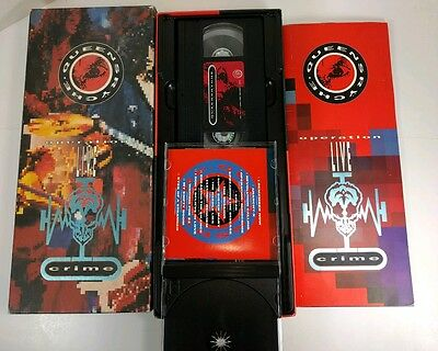 Queensryche Operation Live Crime box set (missing CD) w/ VHS + book,poster