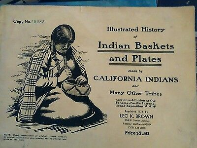 Illustrated History Of Indian Baskets And Plates 1974