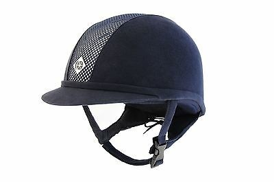 Charles Owen Ayr8 Navy/silver Equine Horse Hats