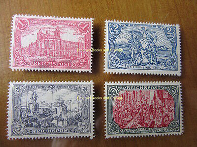 """EBS Germany 1900 """"Images of the German Empire"""" set Michel 63-66 REPRINTS"""