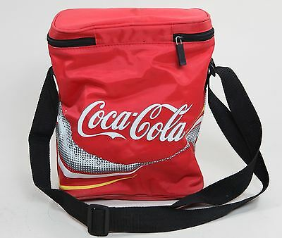Vintage Coca-Cola Insulated Thermos Tote Cooler Coke Lunch Bag Vinyl Zipper