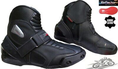Real Leather High Tech Mens Motorbike Motorcycle Racing Short Sports Shoes Boots