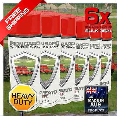 6x IRON GARD Spray Paint SEMEATO RED Disc Seeder Farming Seed Tillage Crop Plant