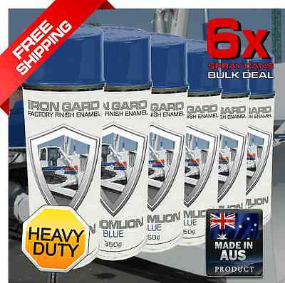6x IRON GARD Spray Paint ZOOMLION BLUE Dozer Excavator Auger Loader Skid Bucket