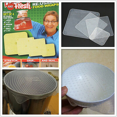 Hot Re-usable Food Wraps Stretch and Fresh Food Home Accessories Kitchen Tools