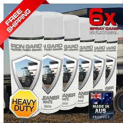 6x IRON GARD Spray Paint GLEANER WHITE Farm Agriculture Hay Harvesting Combine