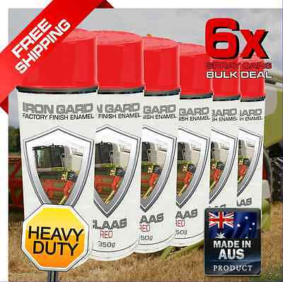 6x IRON GARD Spray Paint CLAAS RED Farm Agriculture Forage Harvester Combine Hay