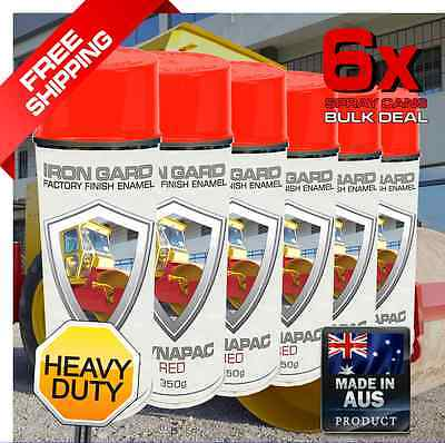 6x IRON GARD Spray Paint DYNAPAC RED Roller Compactor Drum Road Jackhammer Sign