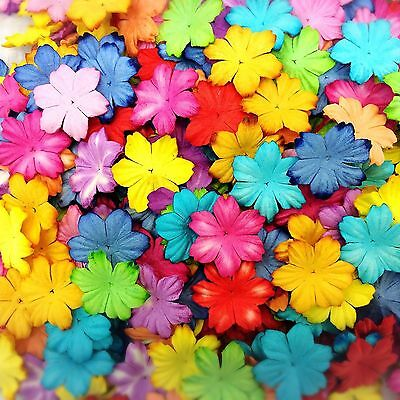 50 Mixed Colorful Flowers mulberry paper for Craft & D.I.Y #05