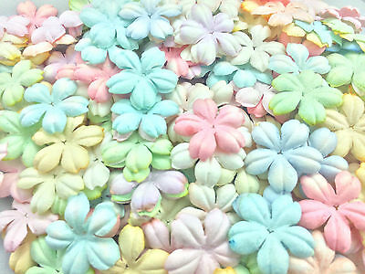 50 Mixed Pastel Color Flowers mulberry paper for Craft & D.I.Y #07