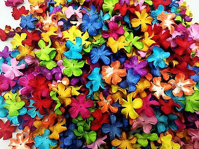 50 Mixed multi-color Flowers mulberry paper for Craft & D.I.Y