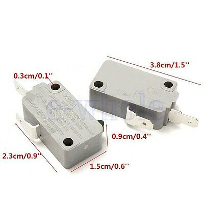 2Pcs Microwave Oven KW3A Door Micro Switch Normally Open for DR52 125V/250V BE