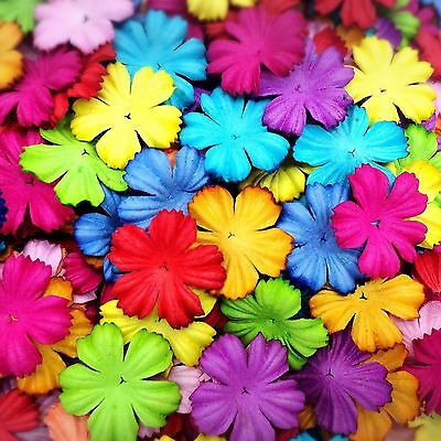 50 Mixed Colorful Flowers mulberry paper for Craft & D.I.Y #07