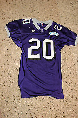 St. Thomas Tommies Football Jersey Game Worn 20 Aflac Good works Team Russell 44