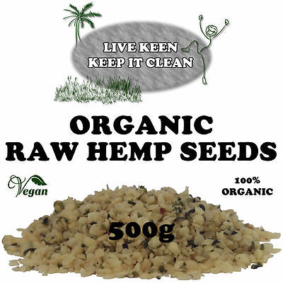 Live Keen - Organic Raw Hulled Hemp Seeds - 500g