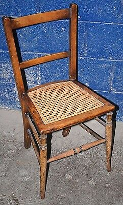 ~Small ~Antique~ Vintgae ~ Bedroom Chair ~Woven Seat Base ~VGC~