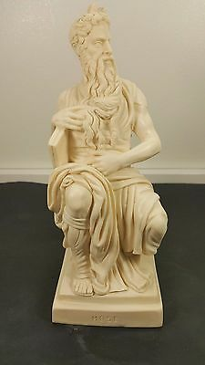 VTG Sculptor A.Santini Classic Moses Figurine Sculpture , Italy