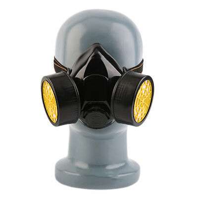 Emergency Survival Safety Respiratory Gas Mask With 2 Dual Protection Filter BS
