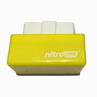 OBD2 Plug and Drive OBDII Performance Chip Tuning Box for Benzine Car Yellow BS