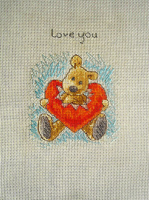 Anchor Completed Counted Cross Stitch Unframed Picture Love You