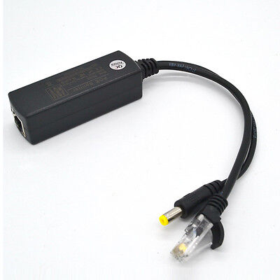 PoE Splitter Adapter Cable 10/100Mbps 12V 1.25A Output for Network Power BS