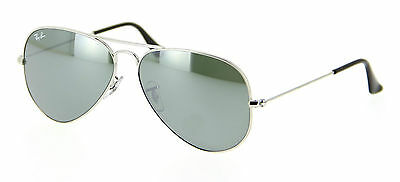 Genuine Ray-Ban 3025 Aviator Replacement Lenses: Glass Grey Mirror 58mm.