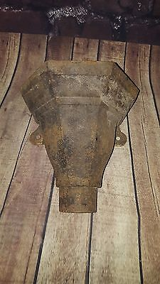Antique Cast Iron Flower Pot Wall Planter Hopper Garden Display Pub Victorian