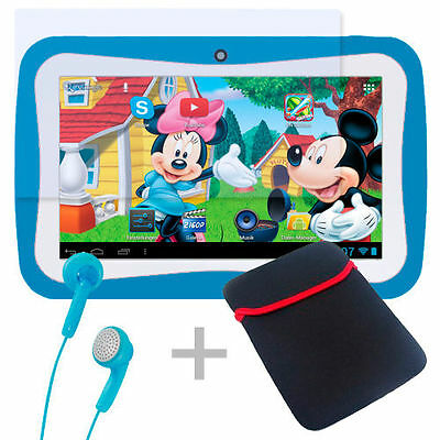 Kinder Tablet PCLerncomputer inkl. 30 Spiel-Bildung-Apps WiFi Android 5.1Blau