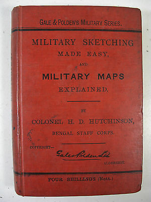 Victorian Officers Book  Military Sketching & Maps 1891 Indian Bengal Hq Corps
