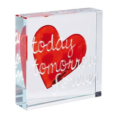 Spaceform Today Tomorrow Forever Medium Paperweight