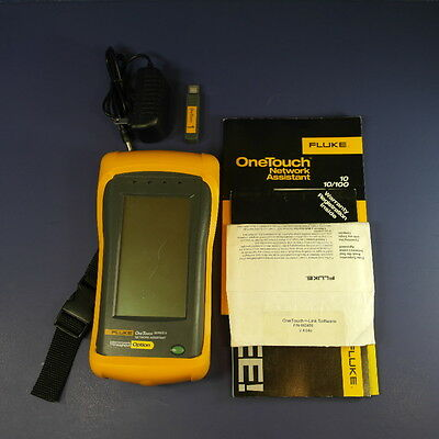 Fluke One Touch Series II 10/100 Pro Network Assistant - Good condition, Extras