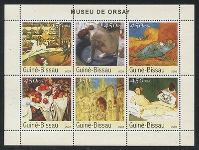 Guinea Bissau 2003 Musee d'Orsay S/S set NH