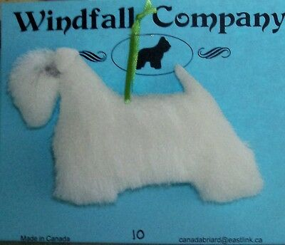 Sealyham Terrier Dog Soft Plush Canine Christmas Ornament # 10 by WC