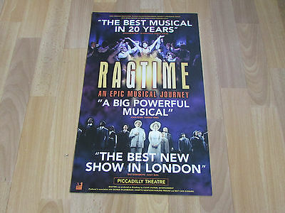 RAGTIME Best Musical in 20 Years an Epic Journey PICCADILLY Theatre Poster