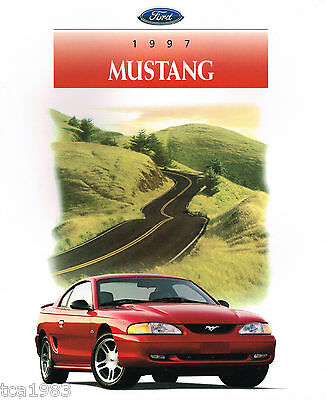 1997 Ford MUSTANG Brochure / Pamphlet / Catalog w/Color Chart: GT, '97