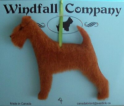 The Irish Terrier Dog Plush Christmas Canine Ornament # 4 by WC