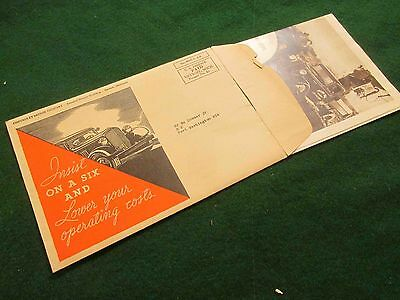 """1934 Chevrolet 1/2 and 1-1/2 Ton Truck Mailer w/Envelope: 18"""" X 24"""" Opened"""