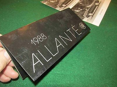 1988 Cadillac Allante Color Chips & Leather Samples Folder