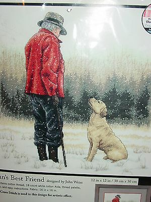 New Man's Best Friend Dimensions Counted Cross Stitch By John Weiss