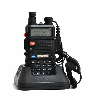 Baofeng UV-5R Two Way Radio FM LED 1800mAh w/charger earpiece FREE SHIPPING