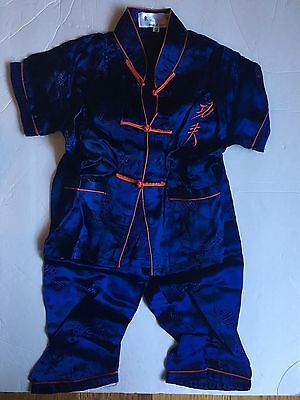 Blue Chinese Outfit for Toddler, Size 2